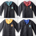 Free shipping Adults Cloak Robe Wizard Tie Gryffindor Fancy Dress Costume Outfit S-2XL 4 colors