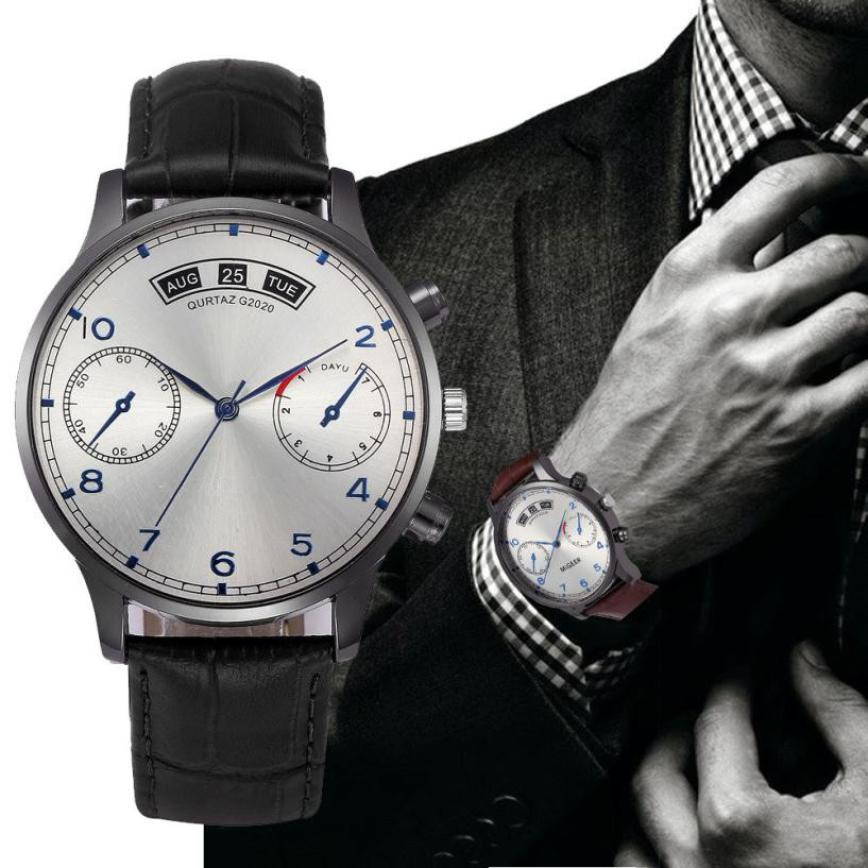 Retro Design Leather Band Analog Alloy Quartz Wrist Watch men's wrist watches luxury design quartz watch men mens watches top цена и фото