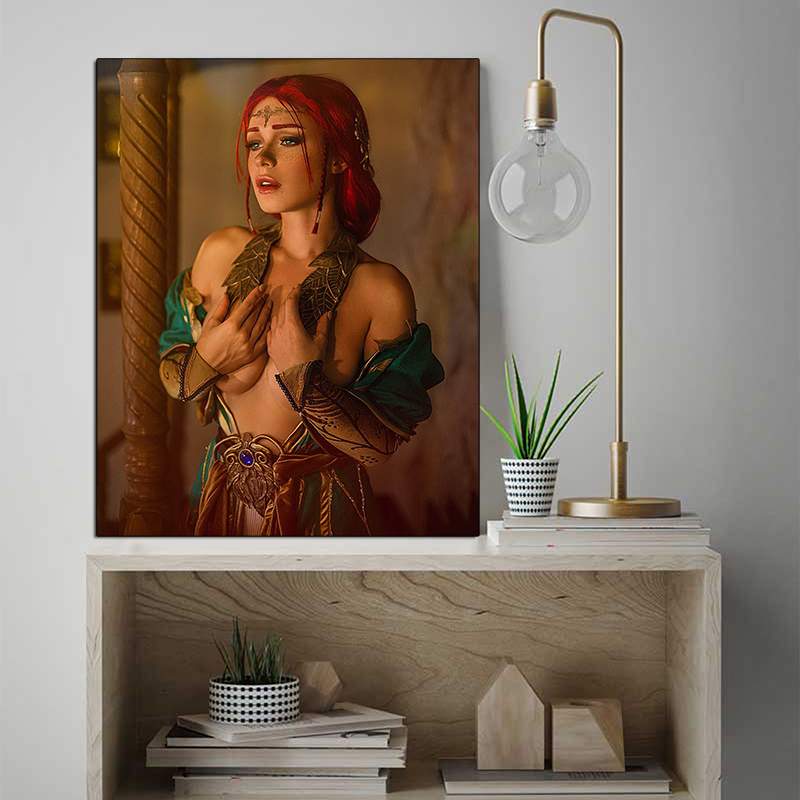 Witcher 3 Triss Merigold Wallpaper Canvas Painting Print Bedroom Home Modern Wall Art Oil Poster Artwork Hd