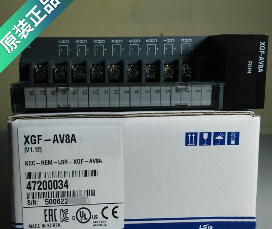 100% New and original XGF-AV8A LS PLC Analog Input 8 Channels 100% new and original xgf ad8a ls lg plc analog input module