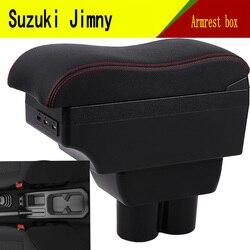 Dla Suzuki jimny podłokietnik ze schowkiem USB wysokość ładowania podwójna warstwa centralny sklep zawartość uchwyt na kubek popielniczka akcesoria 2019