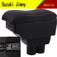 For Suzuki jimny armrest box USB Charging heighten Double layer central Store content cup holder ashtray accessories 2019 Armrests     -