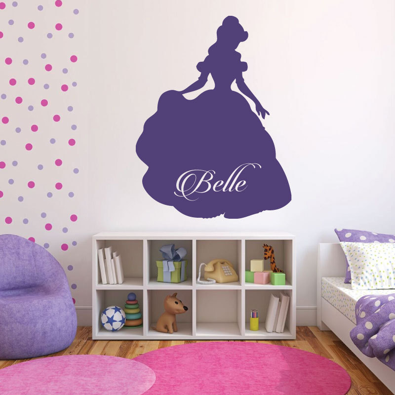 Princess Belle Wall Decal Beauty And The Beast Themed Wall
