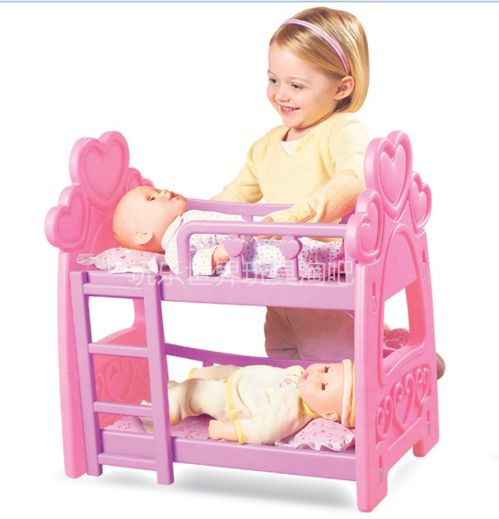 Double deck bed Fit For 43cm Dolls Baby Reborn Accessories
