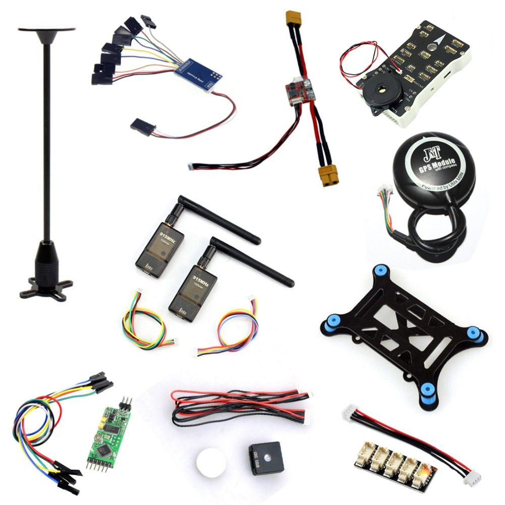 10 in 1 PX4 PIX 2.4.8 32 Bit Flight Controller I2C Shock Absorb OSD PPM M8N GPS 915MHZ Telemetry Kit LED Module for DIY RC Drone