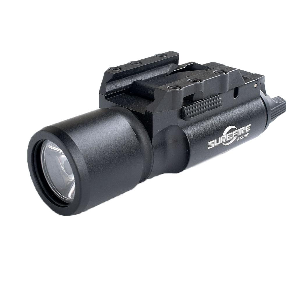 WIPSONTactical X300 linterna impermeable arma luz pistola Lanterna Rifle riel Picatinny Weaver montaje para la caza de Luminar