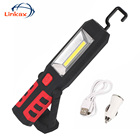 COB LED Flashlight Magnet UBS Rechargeable Working Light 3 Modes Lamp Hanging Hook Outdoors Portable Camping Lighting