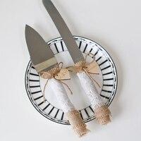 Rustic Wedding Cake Knife Set Wedding Cake Knife Cake Cutter Set Custom Burlap Wedding Cake Server