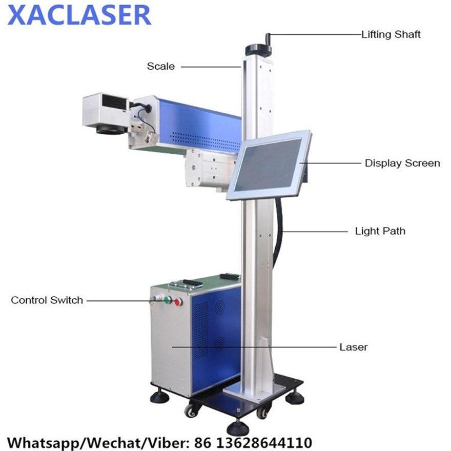 Mouche lumière laser métal bouteille bouchons 50 w fibre laser marquage machine prix