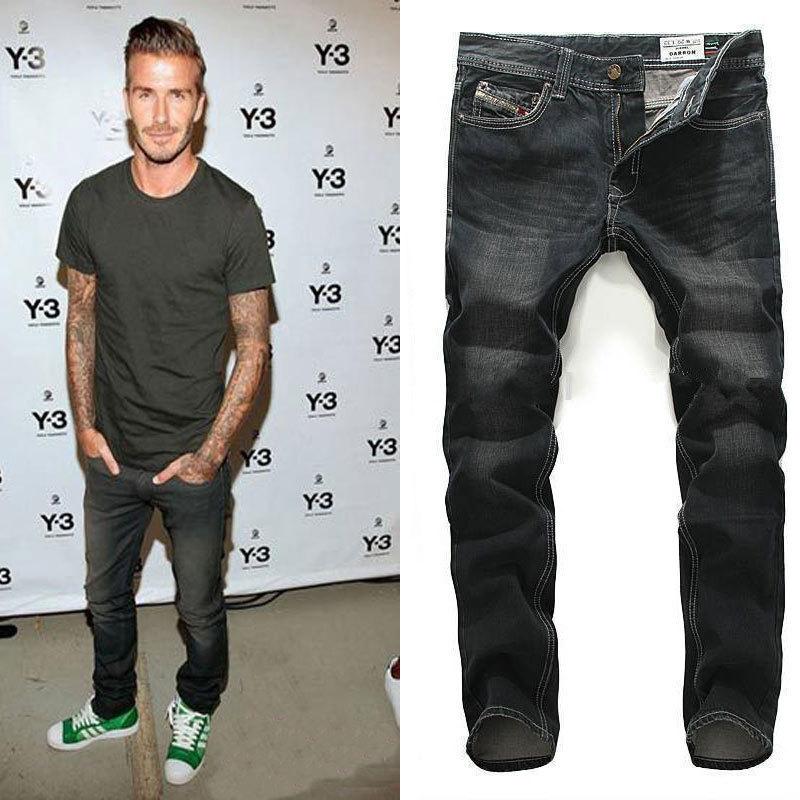Black Ripped Jeans Men 2015 Hot Mens Designer Jeans Famous
