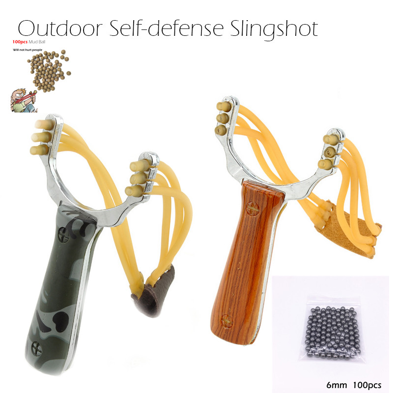 Juegos de tirachinas al aire libre Sling shot catapulta camuflaje Bow un-hurtable Play Mud Balls Mini Hunting ballesta Hunter Bow