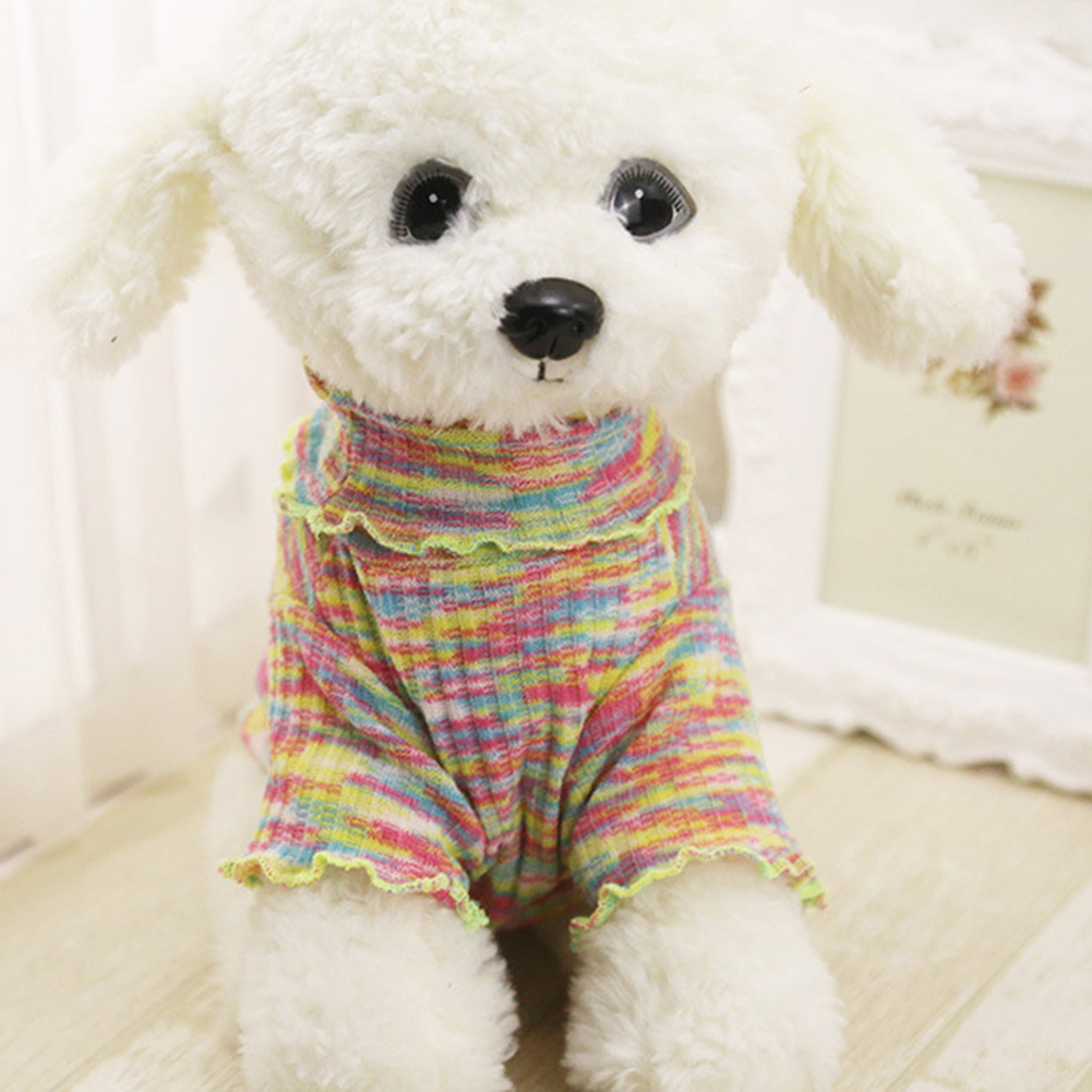 Knitting Small Dog Sweater Puppy Coat Chihuahua High Neck Winter Pet Clothes