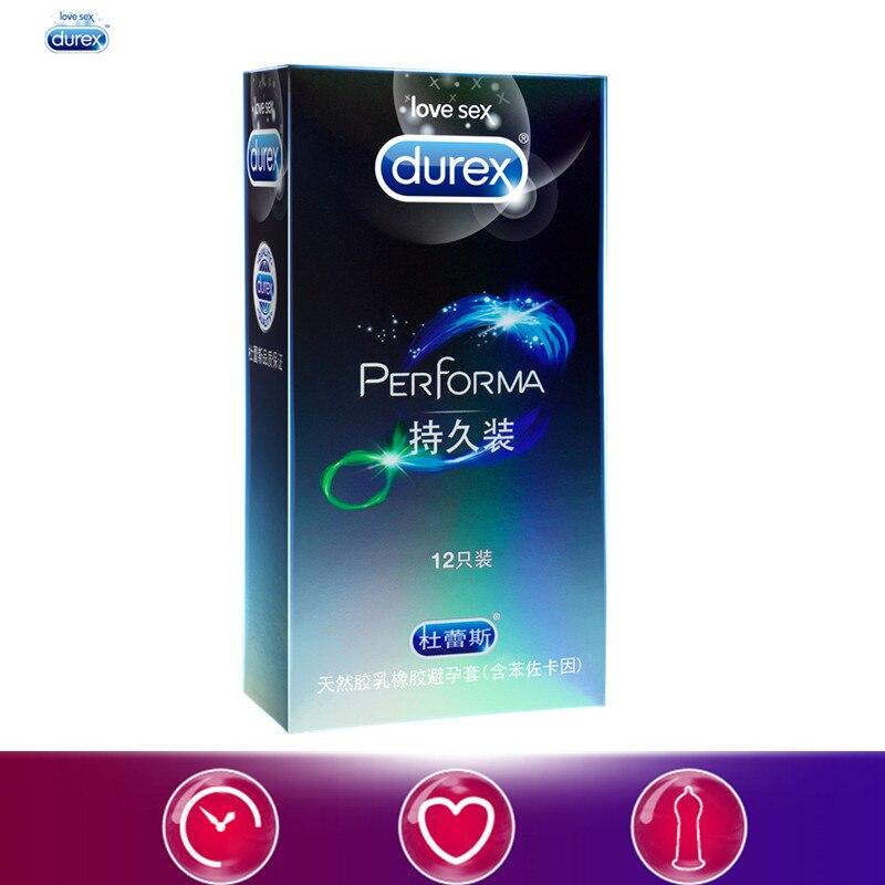 Durex Preservativi Sicuro Ritardo Prolungare Preservativo Lunga Durata di Medie Dimensioni 52mm Prodotti Del Sesso 12 pz Giocattoli Del Sesso per Gli Uomini lubrificante Manica