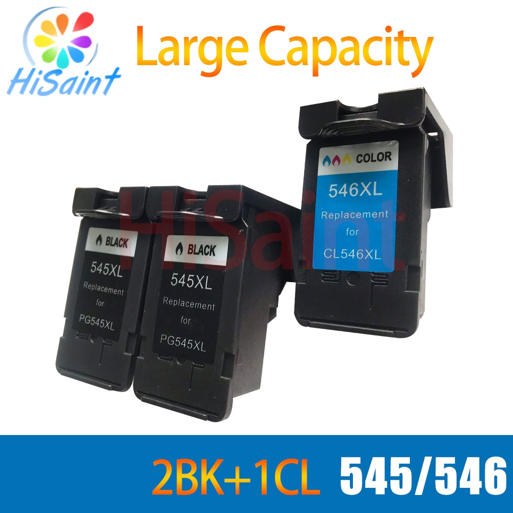 hisaint 2 BK+ CL For <font><b>Canon</b></font> 545 XL 546 XL Printer Ink Cartridges For <font><b>Canon</b></font> MG2400 MG2500 Ink Printer for canon545 for canon546 image