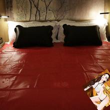 Wodoodporna łóżko dla dorosłych arkuszy S-e-x pcv winylu pokrycie materaca ulgi alergii Bed Bug hipoalergiczny S-e-x pościel pościel tanie tanio TOUGHAGE CN (pochodzenie) Other Q-095 0 86 Płaski arkusz Jakość Stałe Gładkie barwione Flat Sheet Adults Solid Quality