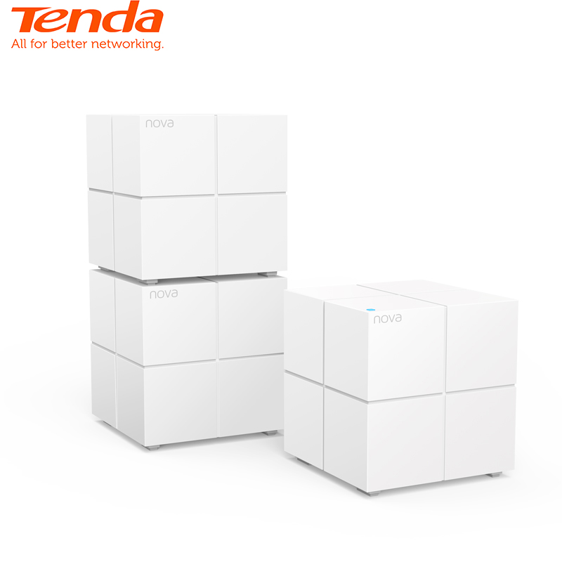 Tenda Nova MW6 Whole Home Mesh WiFi Wireless WiFi Router Gigabit System With AC1200 2.4G/5.0GHz ,Easy Set Up, APP Remote Manag