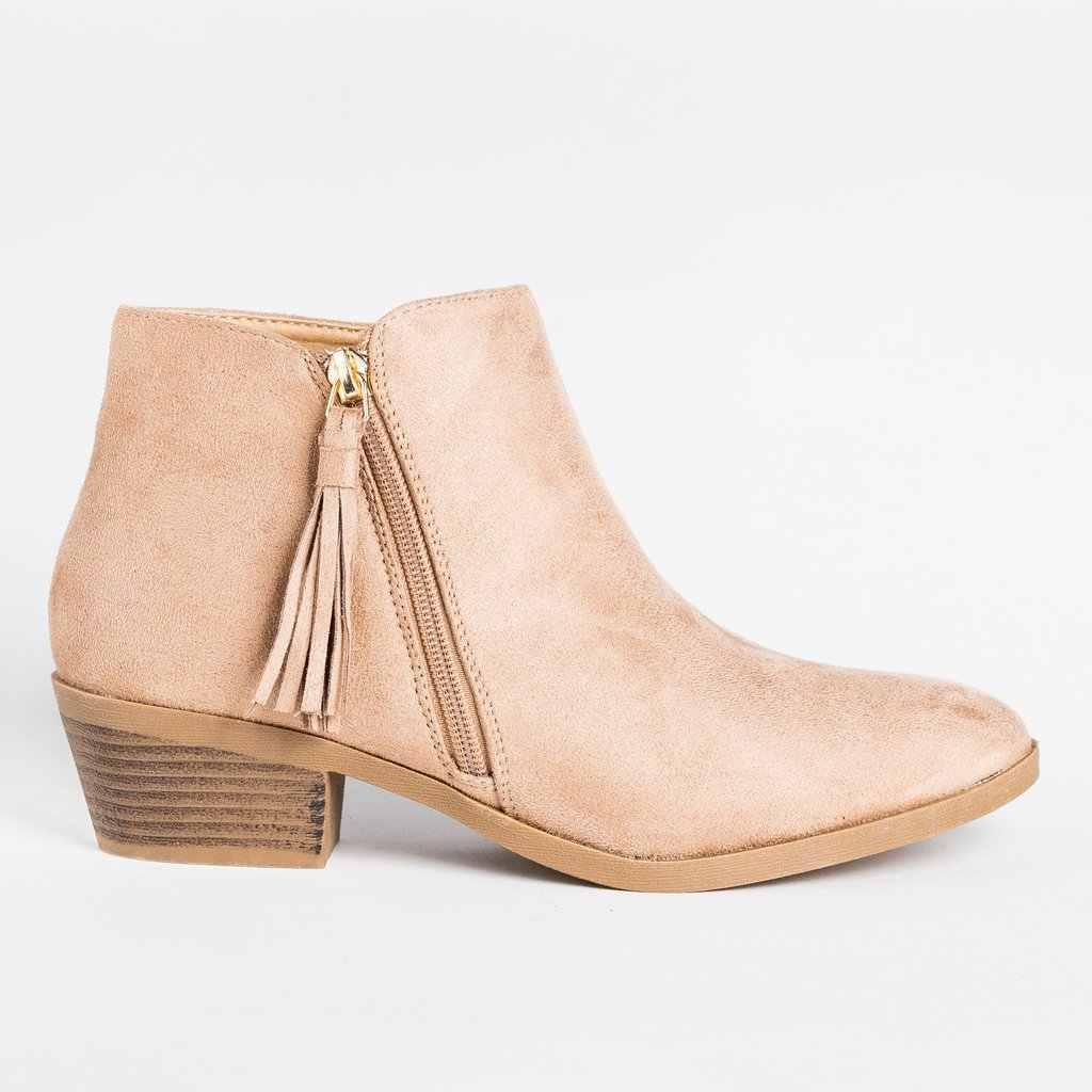 Nova moda feminina botas com zíper tornozelo botas de camurça de inverno sapatos femininos de luxo peep toe