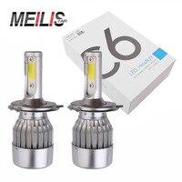2pcs Car Headlights H4 Led Light Bulbs H1 H3 H7 9005 880 881 9012 9006 H11