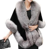 2019 New Yfashion Women Fashion Winter Artificial Hair Coat Soft Long Delicate Cape Shawl