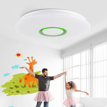 Modern LED Smart Ceiling Light 25W/36W RGB Dimming 110V-220V Bluetooth Speaker APP Control Music Ceiling Light diy optic fiber light kit 25w led light optical fibres rgb color change wireless control magic star ceiling light