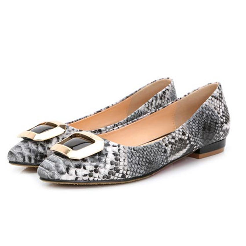 ФОТО Driving shoes Microfiber Leather Ballet Flats Shallow Mouth Single Shoes Point Toe Serpentine Flat Shoes