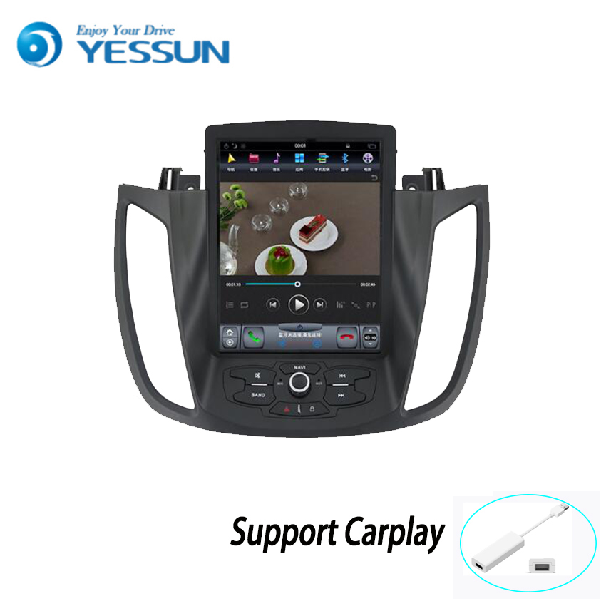 Yessun Android Big Screen Car Navigation GPS For Ford Kuga 2013~2018 HD Touch Screen Multimedia Stereo Player Audio Video Radio.