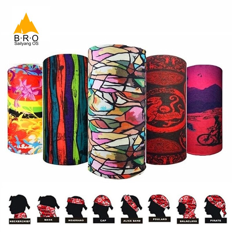 #Low Price# HOT Men Women High Quality Magic Scarf Random Colors Cycling Bandanas Bicycle Face Mask Snowboard Cap Magic Headband