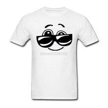 men's Sunglasses Smiley Face band T-Shirt 3d Happy Face Shor