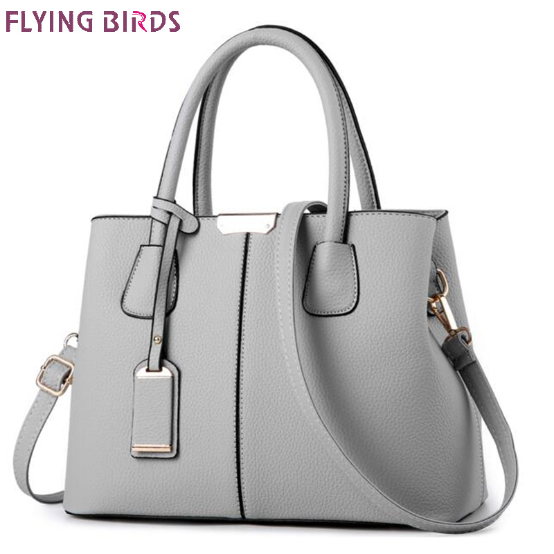 FLYING BIRDS women handbags designer PU leather women tote messenger bags fmaous brands ladies shoulder bags pouch high quality flying birds designer bag for women canvas bag women lunch bags casual purse high quality handbags 2018 new women bags ls5254