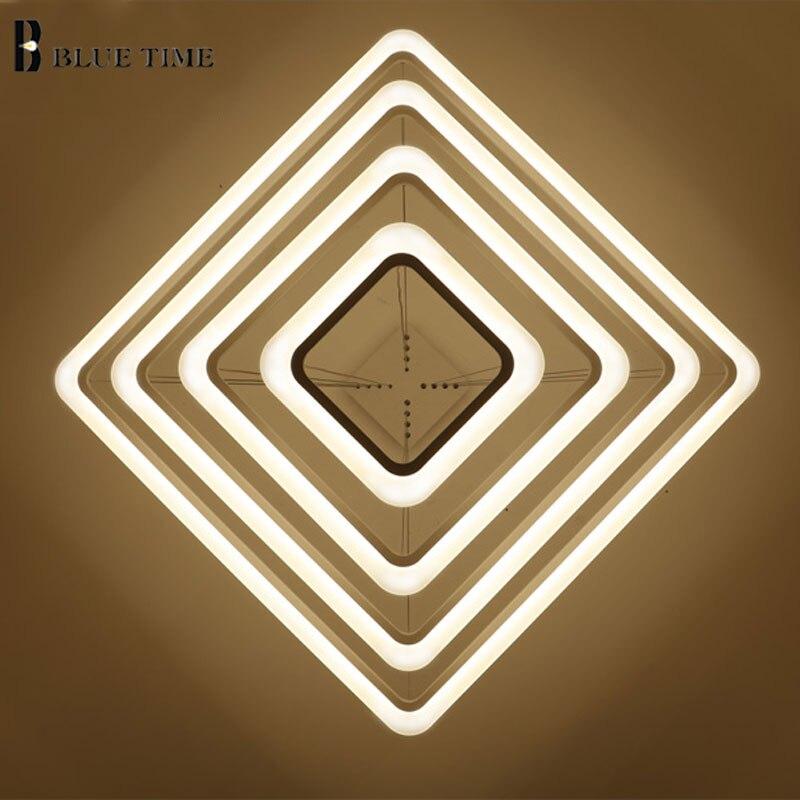 Lustres para sala de estar sala Name : Acrylic Modern Led Pendant Light Square 4/3/2/1 Rings
