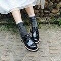 Glitter Solid Divertidos Calcetines de Algodón Mujeres de Otoño Invierno Calcetines de Encaje Llanura Calcetines Largos Calientes Brillantes Señoras Harajuku Calcetines de Pre-diseño