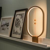 Heng LED Smart Balance Lamp Magnetic Suspension Creative Night Light Home Decoration Bedroom Bedside Reading Light Birthday Gift