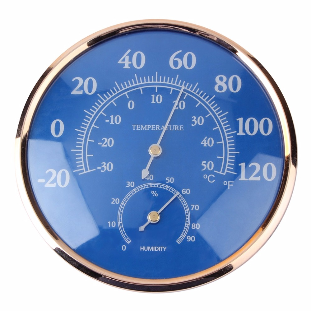 OUTAD Superior qualityLarge Round Thermometer Hygrometer Temperature Humidity Monitor Meter GaugeStylish digital indoor air quality carbon dioxide meter temperature rh humidity twa stel display 99 points made in taiwan co2 monitor