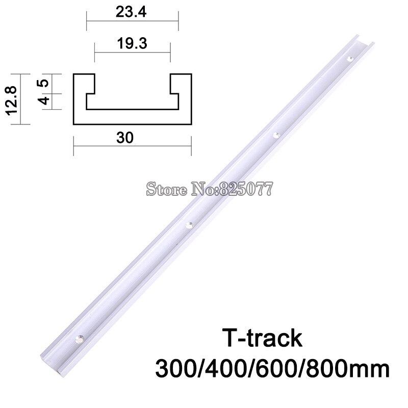 2PCS TトラックTスロットマイタートラックジグフィクスチャースロットルーターテーブルバンドソーTトラック長さ300/400/600 / 800mm KF713
