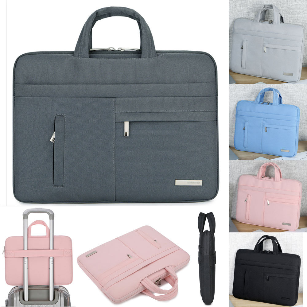 Image 3 - Handbag Laptop Sleeve Case For Notebook Asus Lenovo Acer Dell HP 13 14,15.6,Portable Laptop Bag Cover For Macbook Air Pro 13.3-in Laptop Bags & Cases from Computer & Office