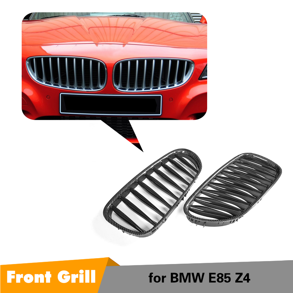 Grilles de calandre Z4 en Fiber de carbone pour BMW E85 Z4 2003-2008