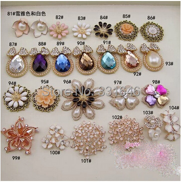 Diy hairbow material metal alloy crystal gem pearl for Pearl arts and crafts closing