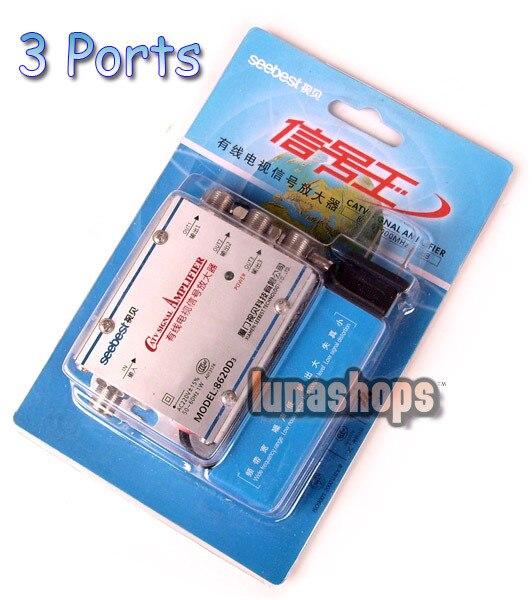 Seebest 3 F Ports Antenne Amplificateur de Signal Booster Pour CATV haut débit LN001902