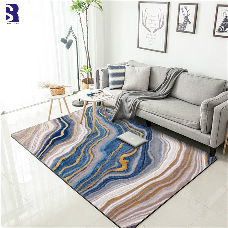Washable Area Rugs Living Room: SunnyRain 1 Piece Marbling Carpet Area Rug For Living Room