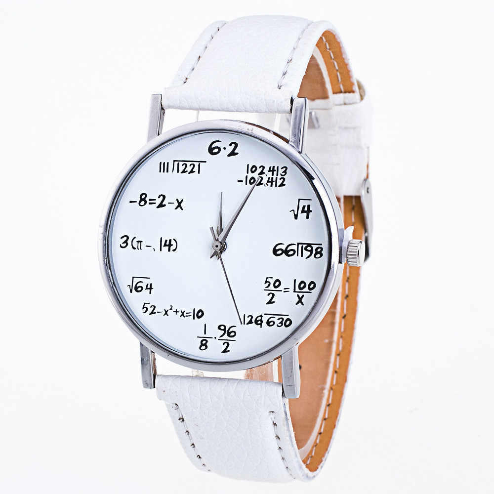 Malloom Vogue Women Leather Watches Mens Funny Numbers Pattern Analog Quartz Watch Lady Casual Clock Women Wrist Watch Reloj #Ju