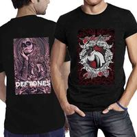 Print Casual T Shirt Brand Men S Short Sleeve Top O Neck Deftones Band Tour Two