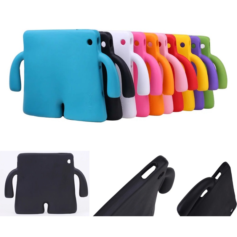 For iPad 2 Case Lovely robot Kids Friendly Non-toxic EVA Foam Shockproof Stand Cover Cases for ipad 3 ipad 4 9.7'Coque Capa