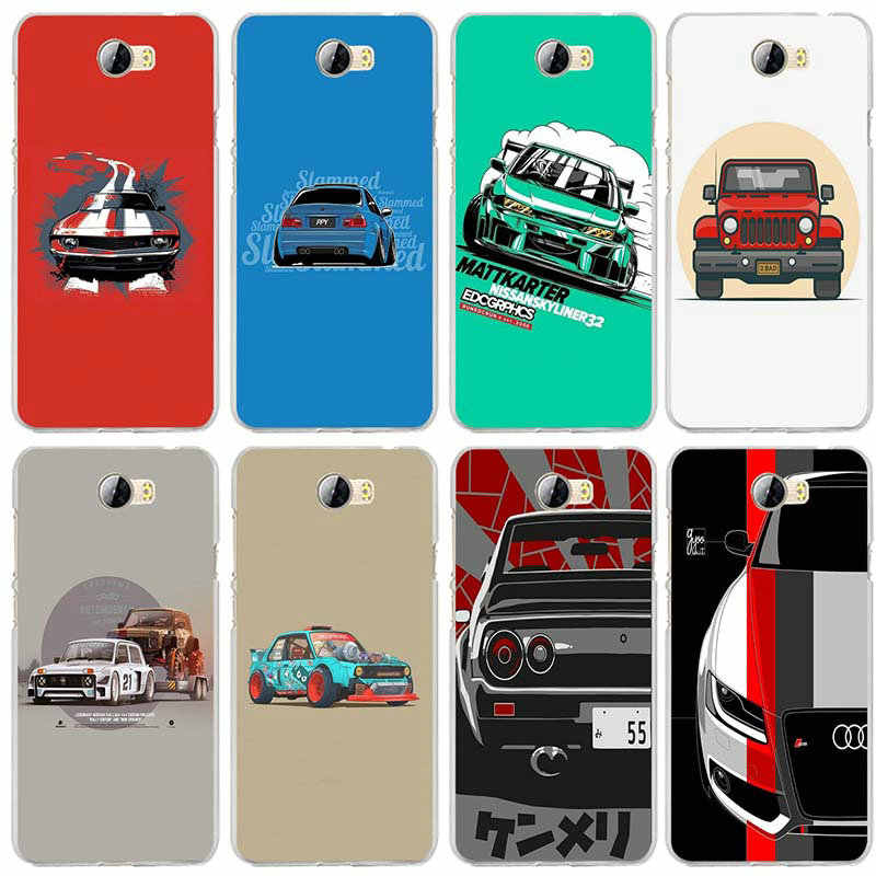 Soft TPU Mobile Phone Case for Huawei P8 P9 P10 P20 P30 Honor 7 7X 7A 9 10 Mate 10 Pro Lite Bags Cartoon JDM Car S57 Supercar