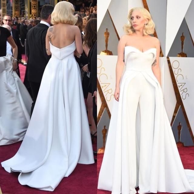 Einzigartige 88th Oscar Lady Gaga Roter Teppich Kleider 2017 Weiß ...