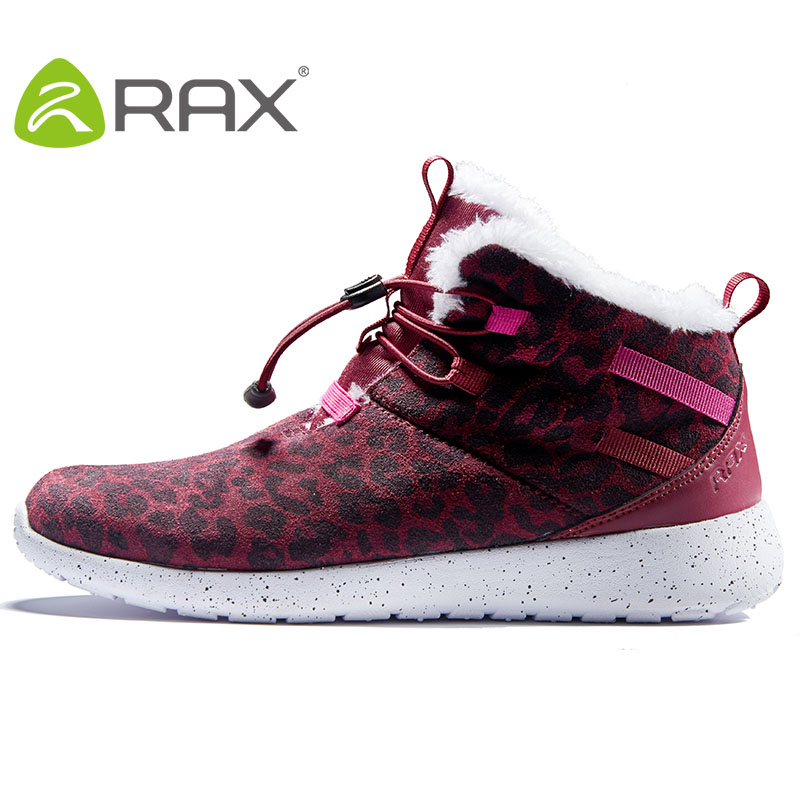 Rax Womens Walking Boots Warm Snow Boots Breathable Leather Walking Shoes with Soft EVA Outsole Shoes