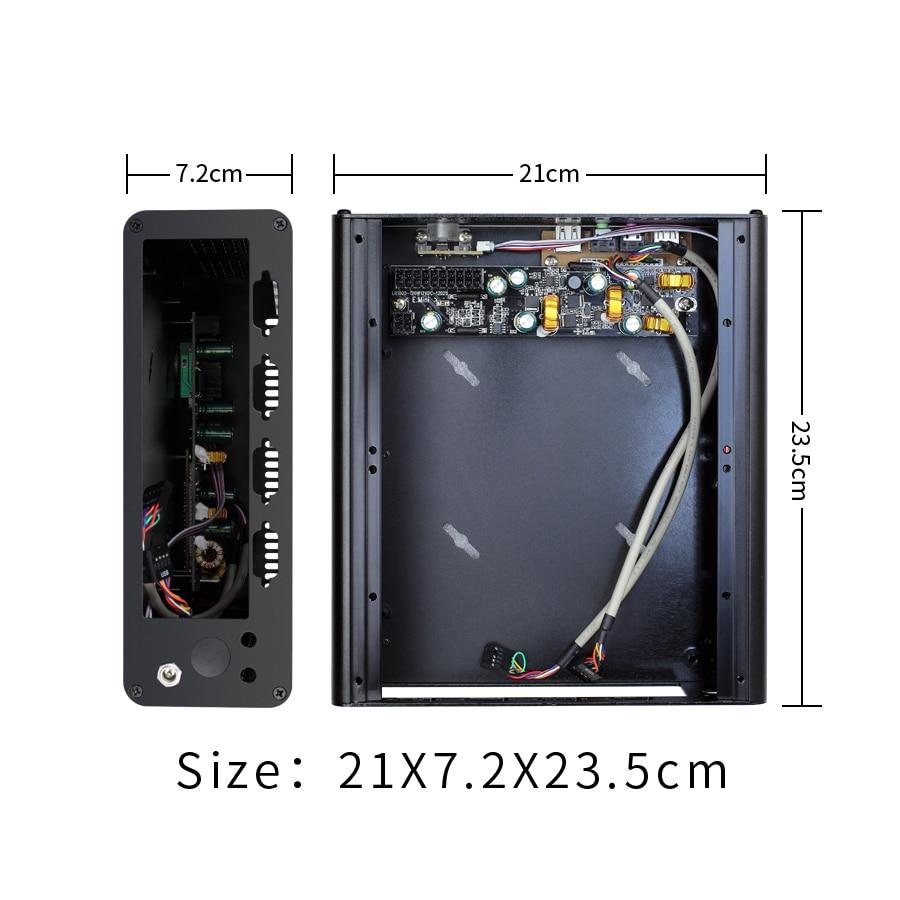 Купить с кэшбэком Realan K3 Mini Itx Case Aluminum Computer Case Aluminum PC  Chassis