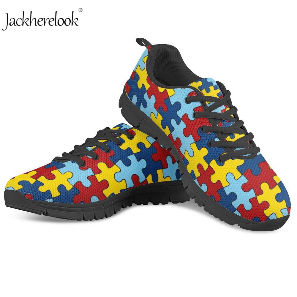 Novel Designs Delightful Colors And Exquisite Workmanship Dependable Jackherelook Women Casual Shoes Fashion Breathable Walking Mesh Shoe Autism Awareness Sneakers 2019 Gym Vulcanize Tenis Feminino Famous For Selected Materials