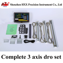hxx complete 3 axis dro set/kit gcs900-3d digital readout and 3 pcs 5u linear glass scales/sensor/encoder 50-1000mm for machines