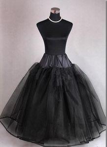 Image 2 - Popodion Cưới Phụ Kiện Đen Petticoat Người Phụ Nữ Không Xương 4 Lớp Cưới Nhộn Nhịp N1037
