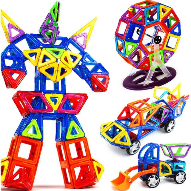 19-149pcs 3D Big Size Magnetic Building Blocks Magnetic Designer Construction Toys Educational Toys For Kids Gift